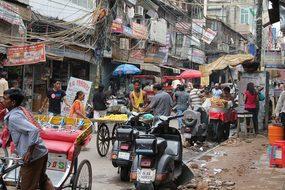 Delhi Road India Chaos Delhi Delhi Delhi D
