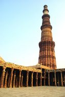 India Delhi Mosque Architecture Columns In