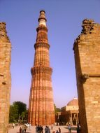 Qutub Minar Delhi India Landmark Culture R