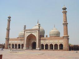 Mosque New Delhi India Jama Masjid Delhi F