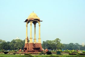 India Delhi Kiosk Monument Columns Archite