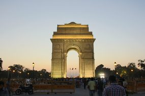 India India Gate New Delhi Abendstimmung I