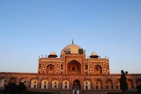 Humayun'S Tomb India Monument Delhi Buildi