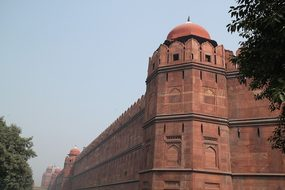 Red Fort New Delhi Moghul Fort Wall Archit