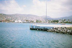 Port, Water, Docks, Mountains, Village