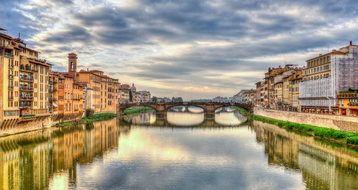 Arno River Florence Italy Reflection River