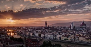 Italy, Florence, Sunset