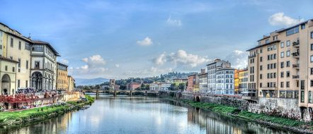 Florence Italy Arno River Europe Firenze A