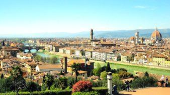 River Arno Italy Reflection River Mediterr