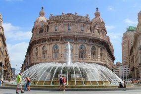 Genoa Plaza Source Italy Building Bag City