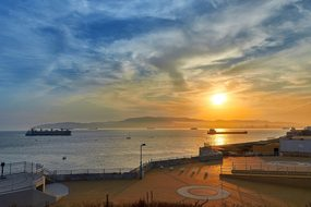 Sunset Booked Sea Mood Abendstimmung Sky N