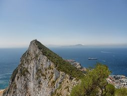 Gibraltar Mountain Landscape Scenic Sea Oc