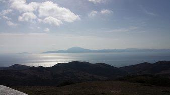 Strait Of Gibraltar Morning Mood Scene Afr