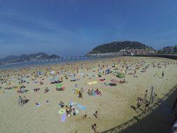 Spain, Gibraltar, Crowd, Ocean, Sea