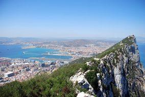 Gibraltar Rock Aerial View Panorama Landsc