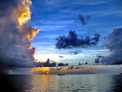 Sunset, Ocean, Atlantic, Sea, Sun
