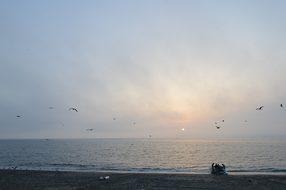 Gibraltar, Sun Set, Beach, Dawn