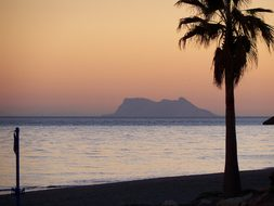 Gibraltar, Sunset, Beach, Spain