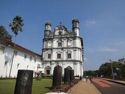 Church Historical Goa Building India Archi