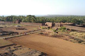 Fort, India, Goa, Indian, Landmark