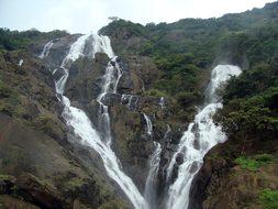 Dudhsagar Waterfall Dudh Sagar Goa Sahyadr