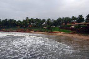 Arabian Sea Stormy Beach Goa India Goa Goa