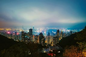 Hong Kong City Urban Cityscape Downtown Sk