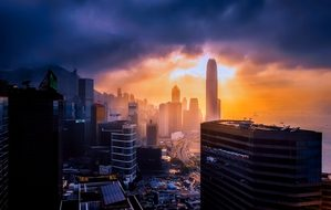 Hong Kong, China, City, Urban, Skyline