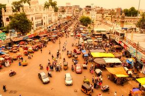 Hyderabad, India, City, Urban, People