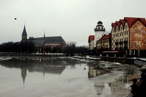 City, River, Kaliningrad