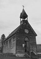 Church, Wooden, Kelowna, Canada, Vintage