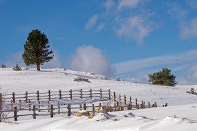 Campotosto, L'Aquila, Snow