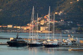 Port, La Spezia, Italy, Boats