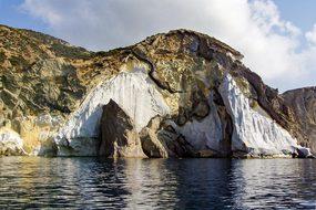 Ponza Island Cliff Italy Latina Rocks Crag