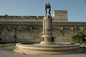 Lecce, Fontana, Castle, Italy