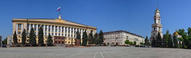 Lipetsk, Russia, Cathedral, Lenin