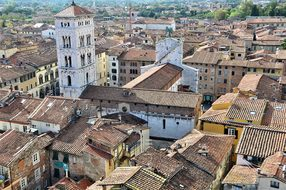 Lucca Tuscany Old Town Italy Roofs Lucca L
