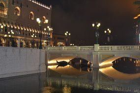 Bridge, Water, Canal, Lights, Roman
