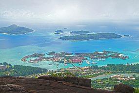 Seychelles Islands Landscape Ocean Sea Poi