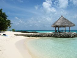 North Male Atoll Island Maldives Sun Hot S