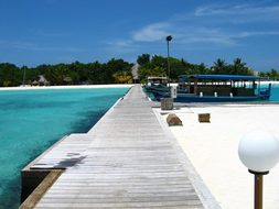 Sea, Maldives, Jetty, Beach
