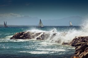 Sailing Boat, Coast, Sea, Water, Sail