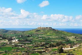 Gozo, Malta, Lighthouse, Panoramic