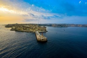 Sunrise Sunset Malta Harbor Bay Mediterran