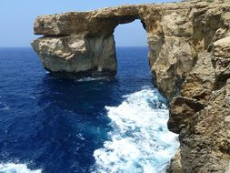 Azure Window, Malta, Azure, Water, Gozo