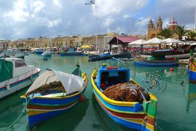 Fishing Boat Picturesque Port Marsaxlokk M
