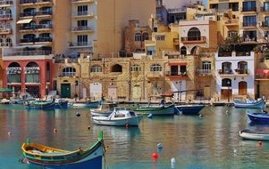 Malta Architecture Outside Water Pier Wate