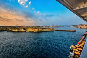 Malta, Harbor, Cruise, Ship, Deck, View