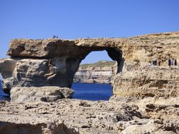 Window Gozo Dwejra Mediterranean Famous To