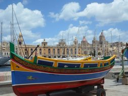 Luzzu Fishing Boat Port Colorful Valletta
